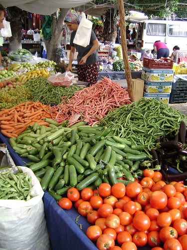 Vegetables at Dalyan Market