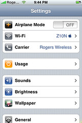 Carrier Settings