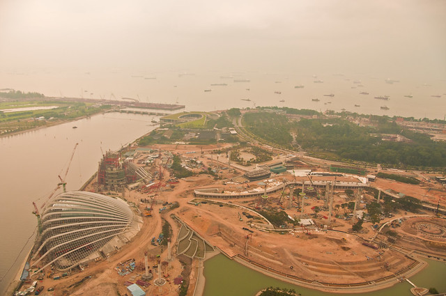Marina Barrage from the roof of our hotel