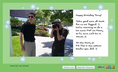 Plaxo Birthday eCard from Joseph