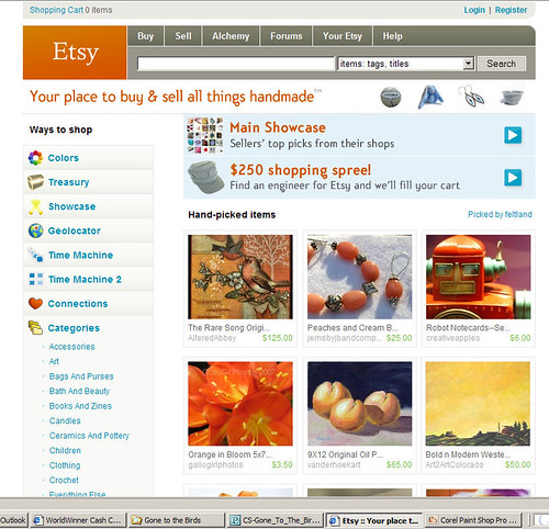 I Made ETSY's Front page!