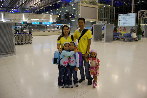 Caro Family at Suvarnabhumi Airport