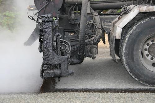 Street Paving tar truck