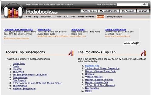 Podiobooks Top Ten