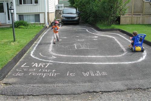 driveway art