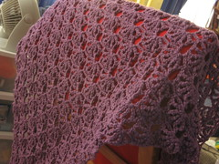 crochet: shell shawl