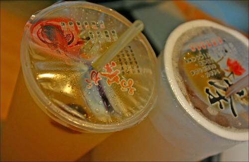 lemonade with honey and green tea