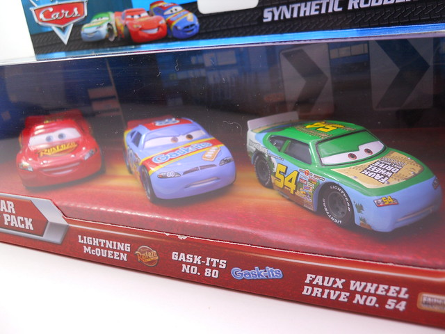 DISNEY CARS RUBBER TIRE RACER 3 PACK K MART (2)