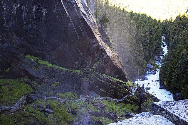 Looking Down on the Mist Trail