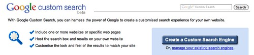 Create a google cse