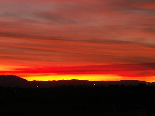 Sunset from my garden