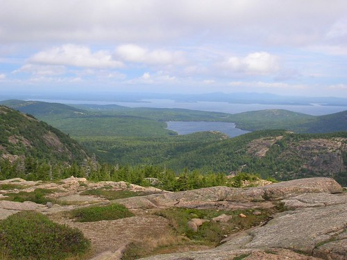 View from mountain hike in Acadia National Park