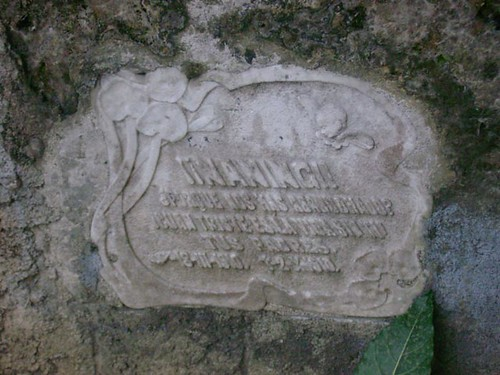 An emotional epitaph from the parents of the dead child, NANING! porque nos has abandonado,  cuan triste es la vida sin tu