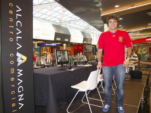 Alberto en el set de RK20 Radio en Alcalá Magna