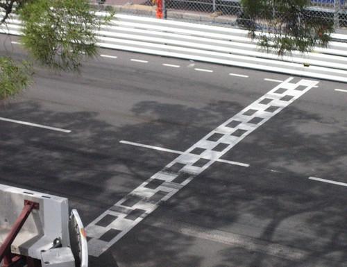 Start-/Ziellinie in Monaco