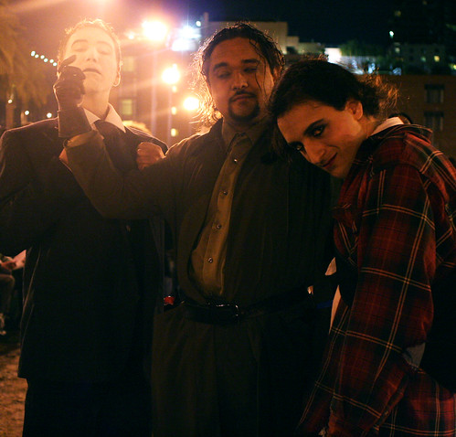 us dressed up as the actors in Metropolis