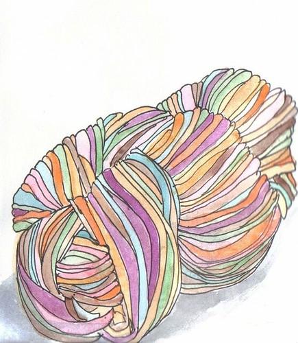 yarn watercolour