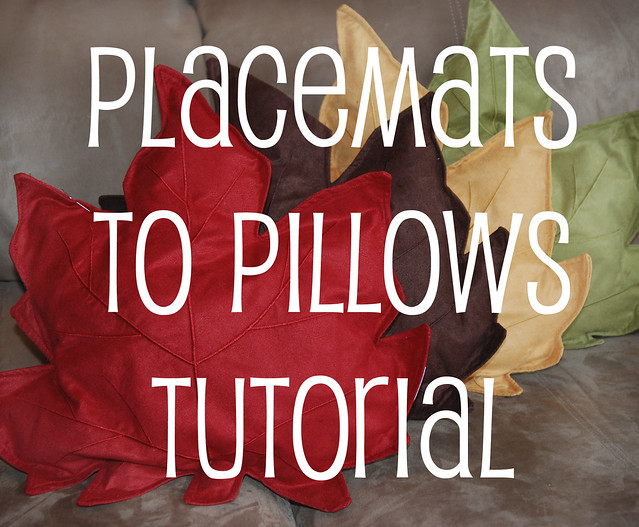 placemats to pillows tutorial
