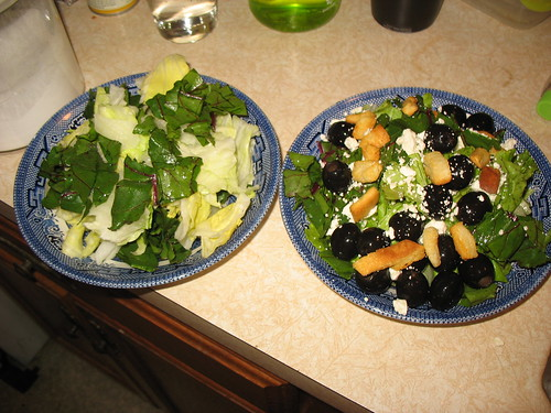 greens in bowls