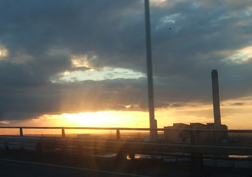 Sunset Over The Dartford Crossing