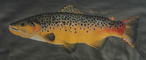 Backwater Angler Brown Trout T-Shirt