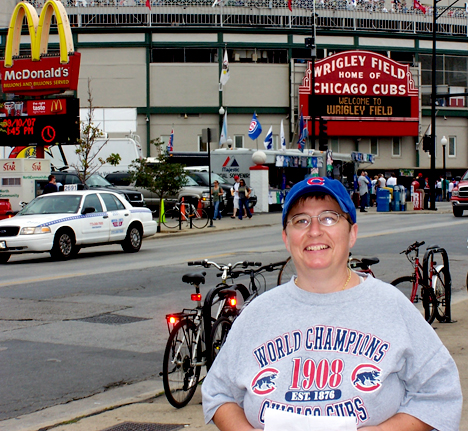 Di at Wrigley Field