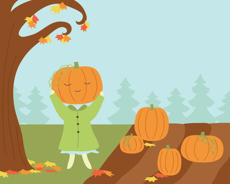 i found the perfect one - cute fall pumpkin patch drawing