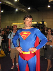 Superman at DC Comics exhibit