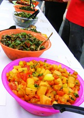 Local Food at the Free Harvest Supper in Deerfield 2007 - (c) Sienna Wildfield
