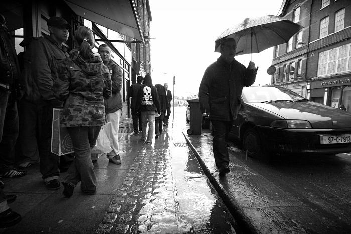 A rainy day on the street