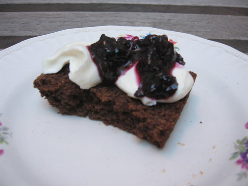 with cream cheese and blueberry marmalade