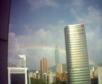 rainbow and Taipei101