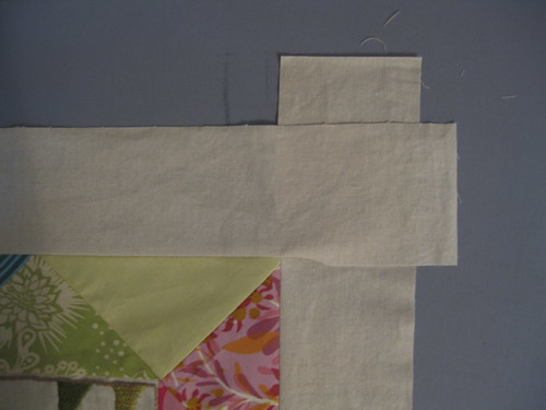 A:  Sew overlaping borders