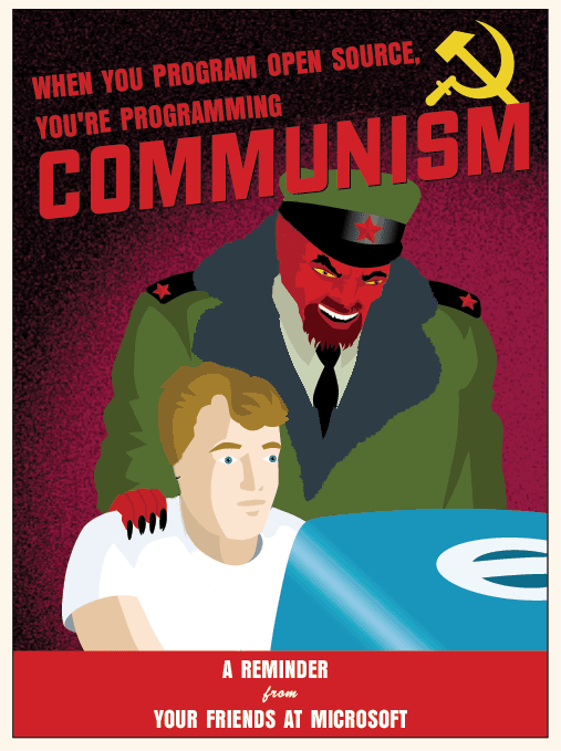 When you program open source, you're programming COMMUNISM