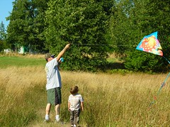 first kite flying experience