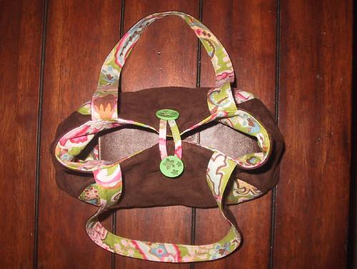 Last Minute Button - Mini Pleated Handbag