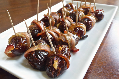 Parmesan Stuffed, Bacon Wrapped Dates