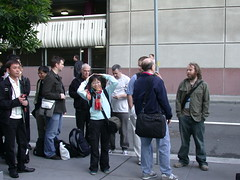 Lining outside Moscone Center