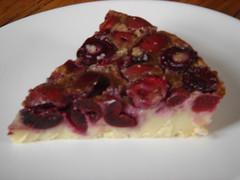 slice of sour cherry tart