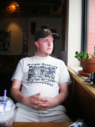 Mikkel at a Coffee House