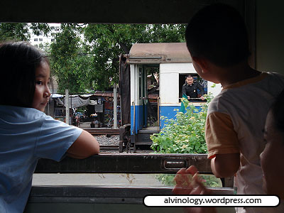 kids looking out of the window