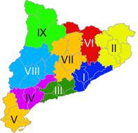 Divisió del Principat en vegueries a l'època republicana