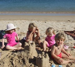 Girls and Cousins at the Beach