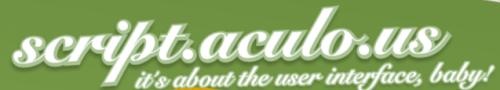 script.aculo.us framework biblioteca de efectos javascript