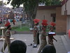 Closing the border ceremony at Wagah near Amritsar