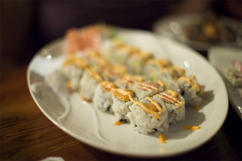 Spicy sushi rolls