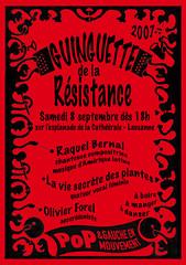 Affichette de la Guinguette de la Résistance
