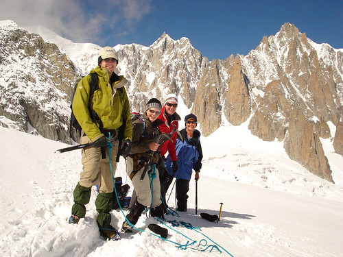 Intrepid Explorers On The Vallee Blanche