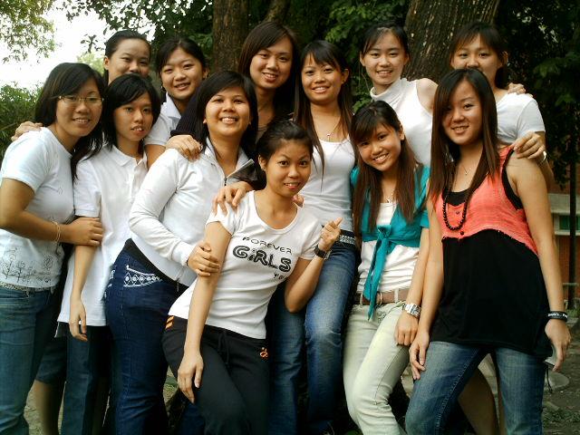 Girls on white...