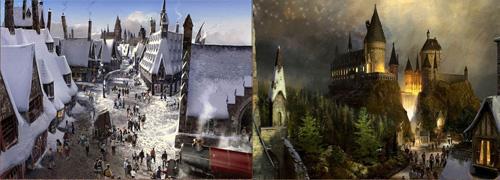 Imágnes del proyecto del parque de Harry Potter